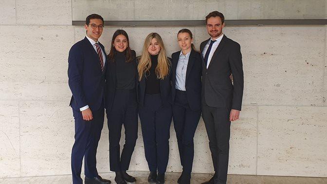 Vis Moot Court Team, April 2020
